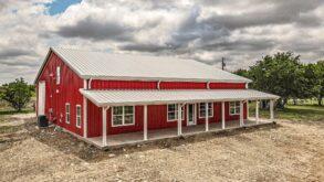 Texas Best Construction Red Barndominium