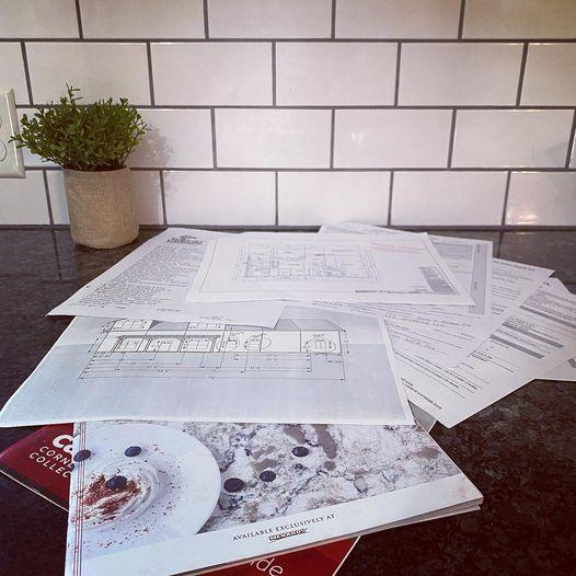 Floor plan paperwork!