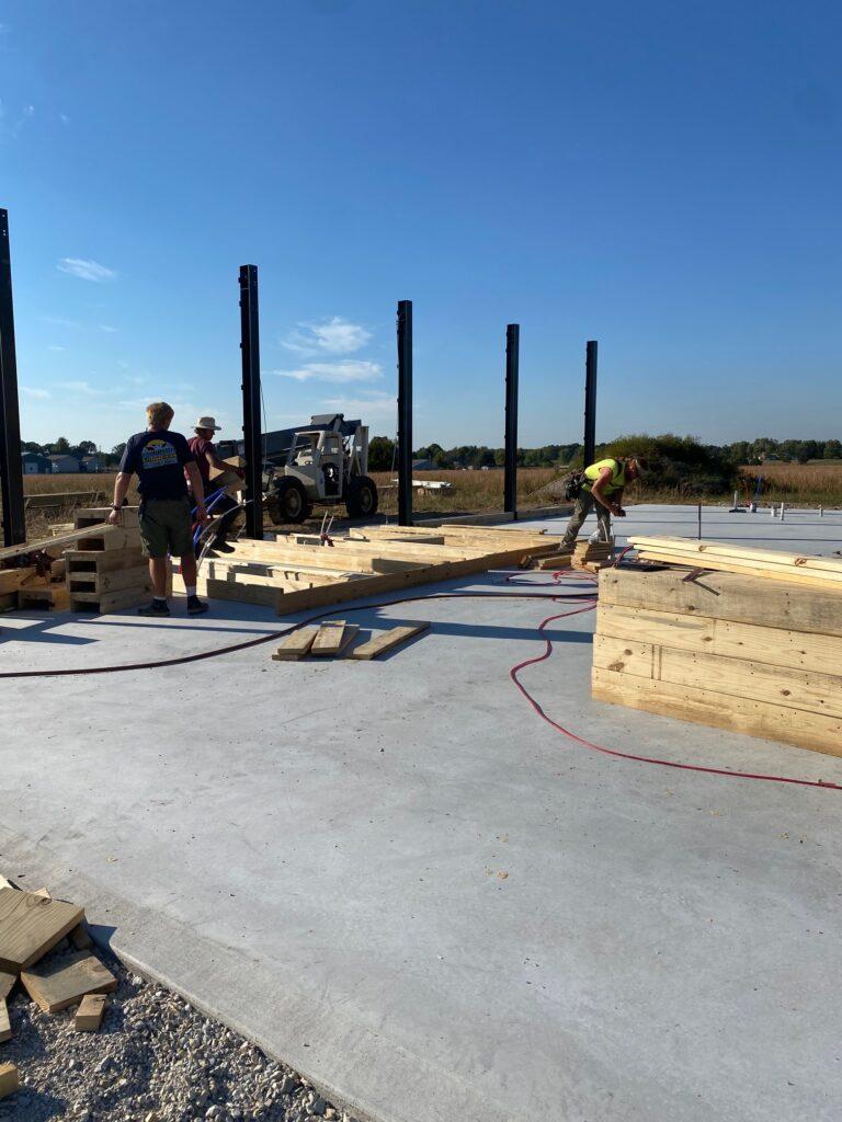 Placing the beams