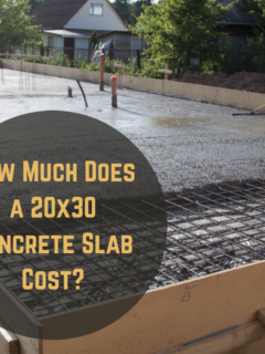 How Much Does a 20x30 Concrete Slab Cost