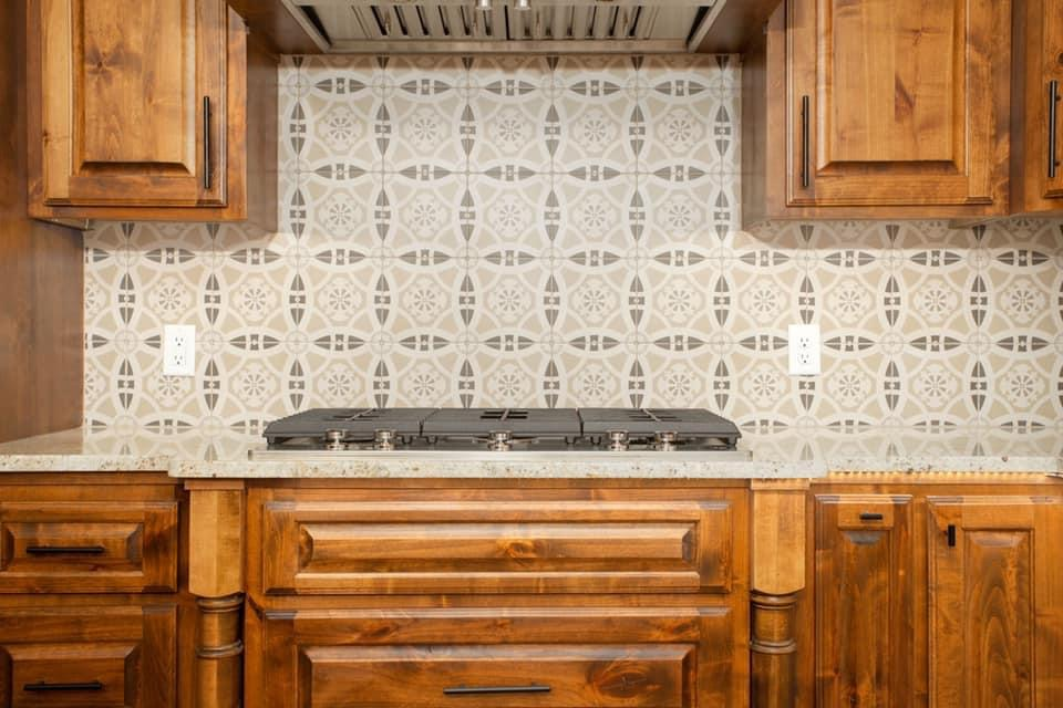 Charming Missouri Barndominum by Lucinda Jane open concept kitchen