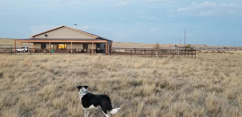 Beautiful Wyoming Barndominum for Horse Lovers by the Timothy Family set on gorgeous countryside