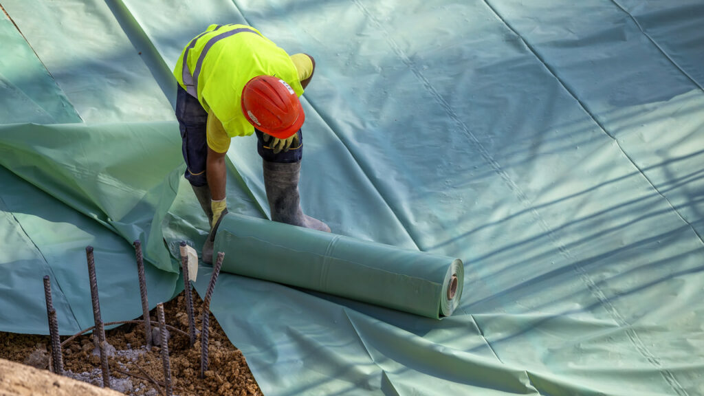 vapor barrier for concrete slab