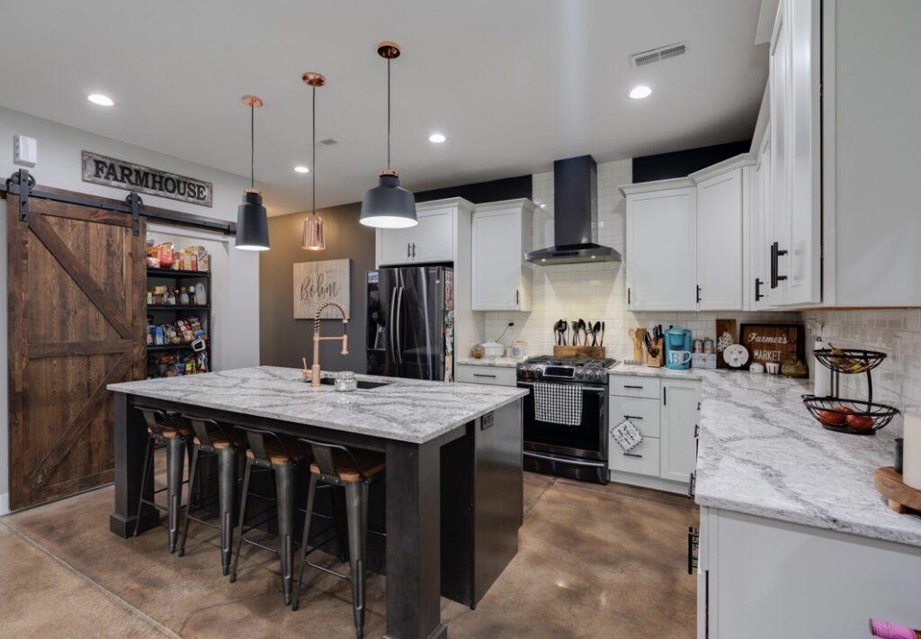 Rustic Illinois Barndominium Kitchen